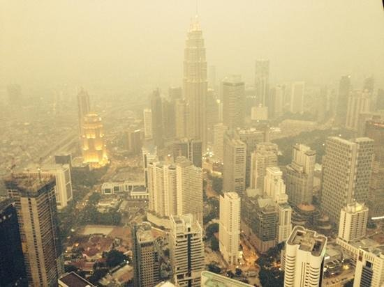 Menara Kuala Lumpur (KL Tower): Could not see much.....Lucky that the company paid for this visit!LOL