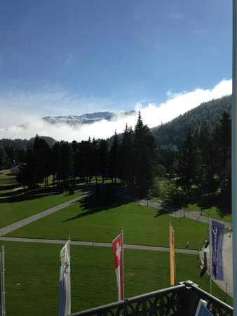 Kempinski Grand Hotel des Bains St. Moritz: View from our room