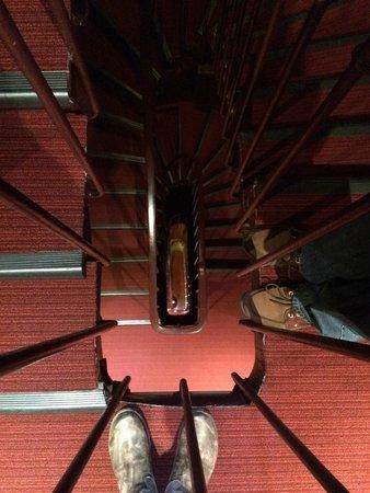 Hôtel du Prince Eugene: the staircase