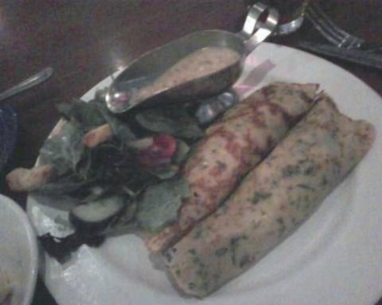Mimi's Cafe: Chicken Crepes with dijon mustard sauce - quite tasty!