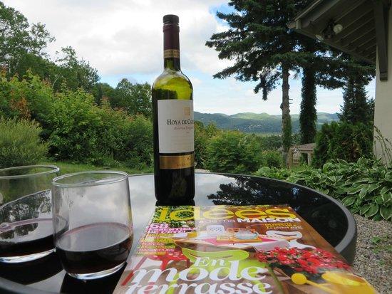 Villa Côté Sud : Petit plaisirs... sur terrasse privé .. chambre coté jardin