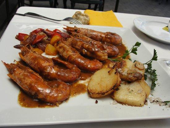 La Casa del Parmigiano: Gambas sauce au Marsala