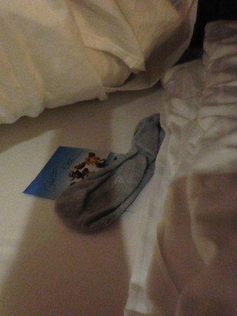 Hôtel Bell Rock : Chaussette sous l'oreiller