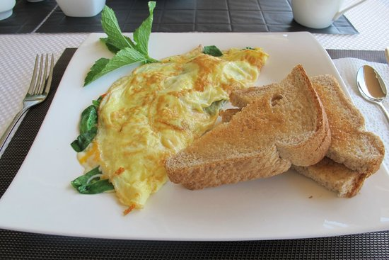 Bella Luna bed and breakfast : Omelettes