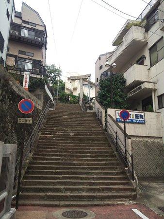 One-legged Torii : 13.11.09【山王神社二の鳥居】階段下から見た鳥居①