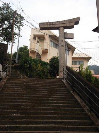 One-legged Torii : 13.11.09【山王神社二の鳥居】階段下から見た鳥居②