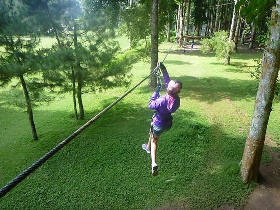 Bali Treetop Adventure Park: Green circuit flying fox
