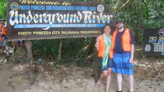 Puerto Princesa Underground River: sign