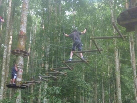 Bali Treetop Adventure Park: Blue circuit