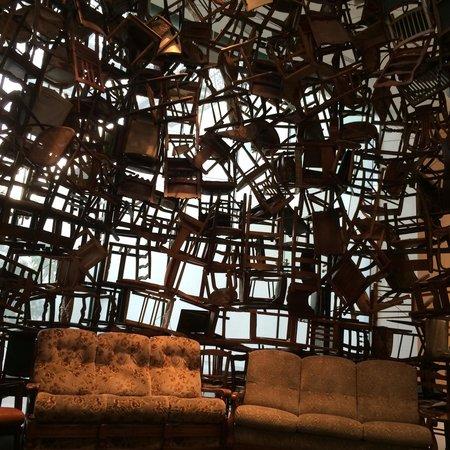 Manarat al Saadiyat: Manarat Sadyat. Room made of chairs.