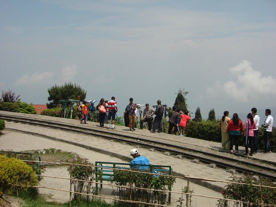 Toy train line at batasia Loop