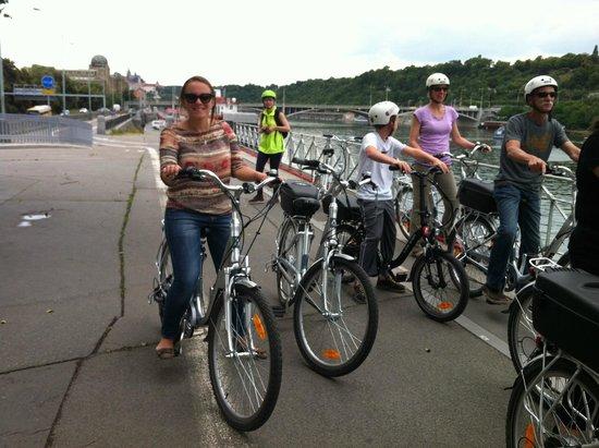 Premier Prague Tours : Enjoying the view after crossing the bridge