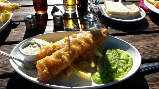 The Boat House Brasserie: 'Small' cod and chips!