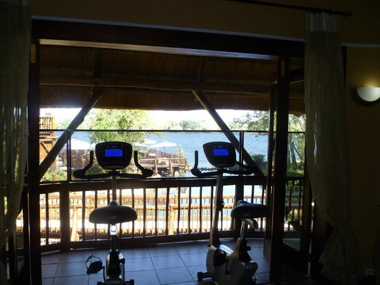 The David Livingstone Safari Lodge & Spa: view from the gym
