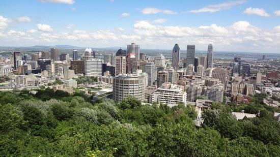 Mont Royal : down town Montreal