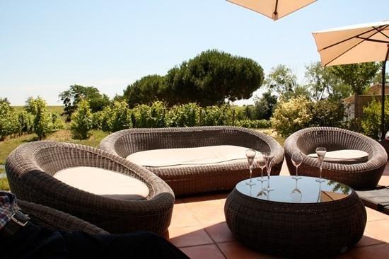 La Table de la Bergerie : la terrasse