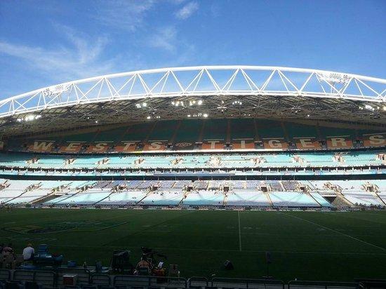 ANZ Stadium: gold seating view