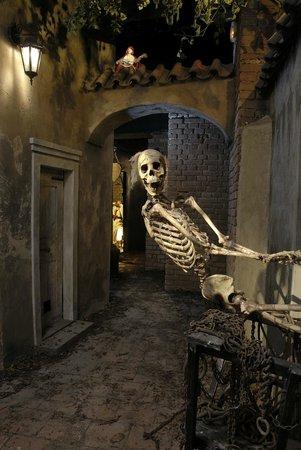 Prague Ghosts and Legends Museum: Skeleton from Jánský vršek