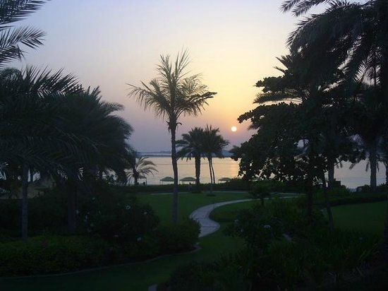 Residence & Spa at One&Only Royal Mirage Dubai: Sunset over the Arabian Gulf