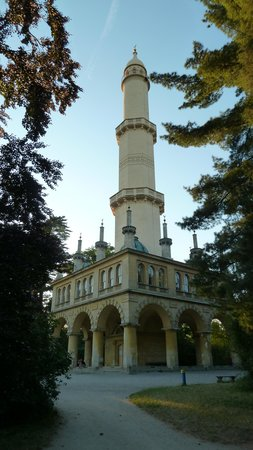 Zamek Lednice: Minaret in the park. Architect mr. Hardmuth - inventor of pensil