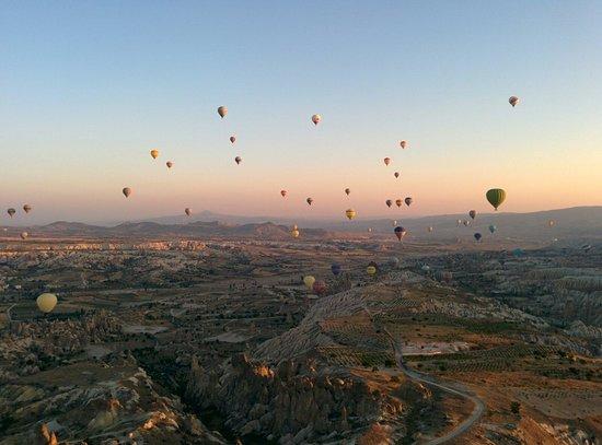 Butterfly Balloons: Hot Air Balloon view in Cappadocia