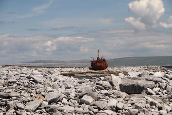 Plassey Wreck: Plassey among the rocks