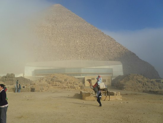 Keops Pyramid: with foggy