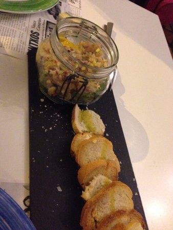 Victor Cruz Bistro: Tartar de ceviche de cerne