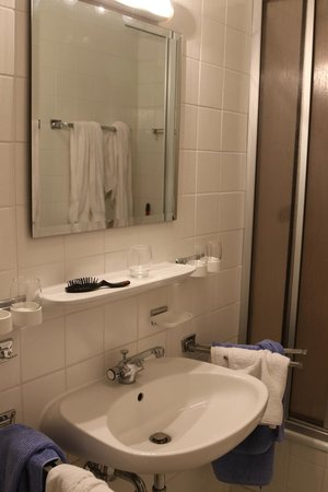 Villa Waldfrieden: The sink and shower