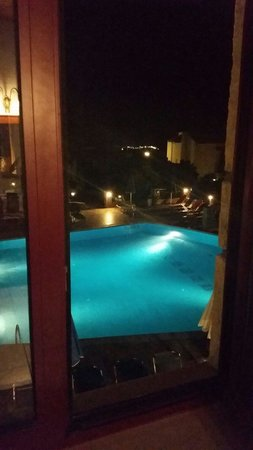 Marni Village : Pool view from side window from room 712 at night
