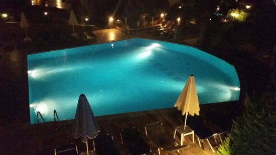 Marni Village : Pool view from window from room 712 at night