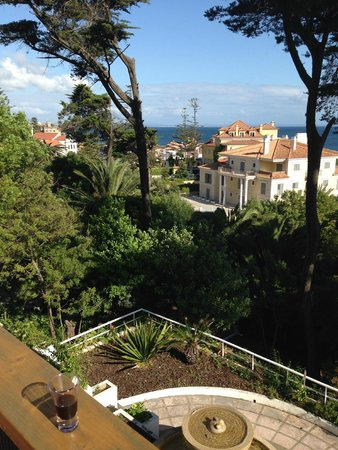 Villa Unika: View from our balcony, with a welcoming glass of port