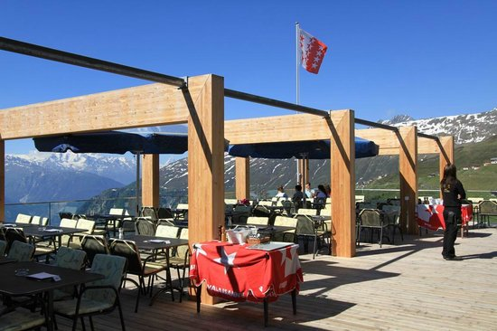 Hotel Belalp : Panoramaterrasse
