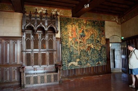 Château de Langeais : magnifique mobilier et tapisserie
