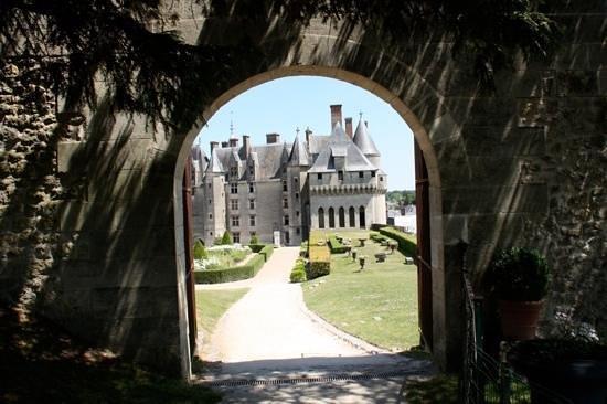 Château de Langeais : vue du jardin