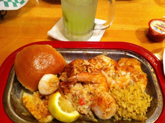 Sizzling Grill: After I had eaten half of it- seafood platter- could be for teo!