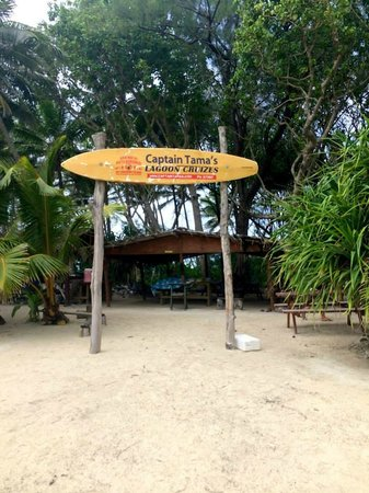 Captain Tama's Lagoon Cruizes : The island where the show & lunch is held