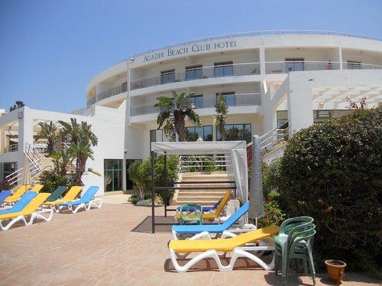 Hôtel Agadir Beach Club : Hôtel depuis la piscine