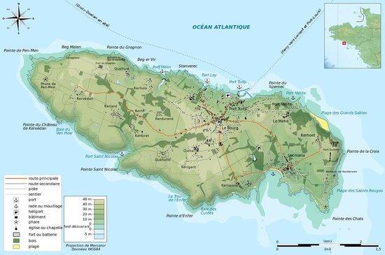 Ile de Groix : Plan de l'île