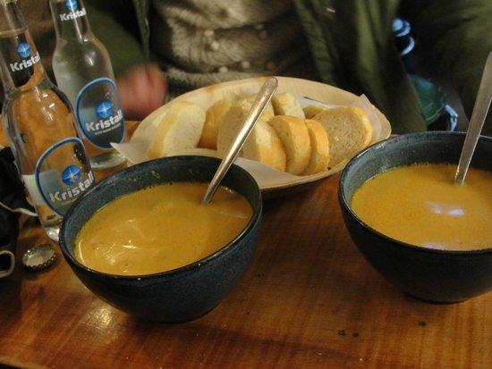 Saegreifinn - The Sea Baron : soup and bread