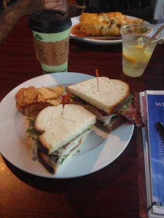 e.leaven Food Company: Turkey, Bacon & Swiss sandwich and the special of the day