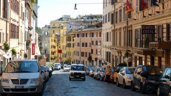 La Fenice: Street view of hotel