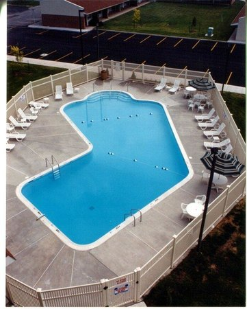 Holiday Inn Express Breezewood: Aerial View of Large Outdoor Heated Swimming Pool