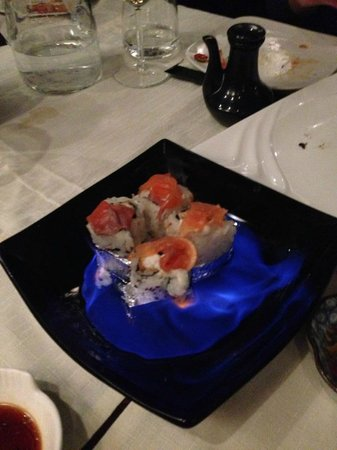 Yokohama Flavour Journey Cuisine: Flambè Uramaki