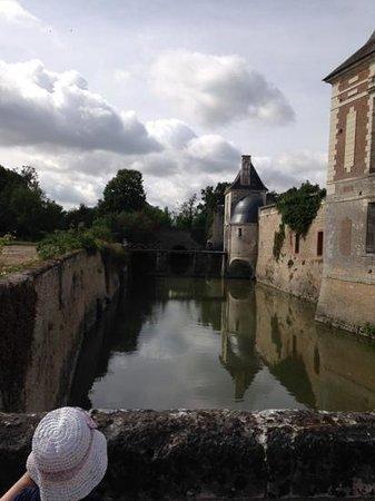 Chateau de Selles sur Cher: Chateau moat
