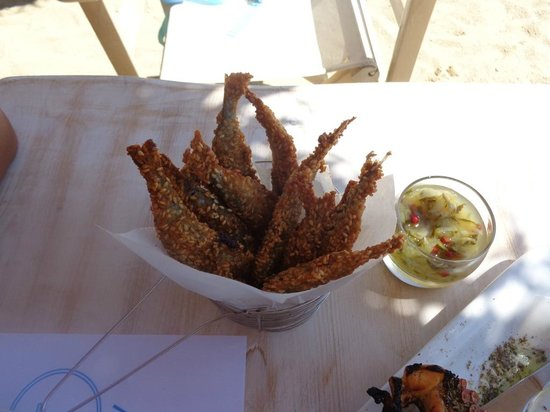 Aperanto Galazio: Μαρίδες με σουσάμι
