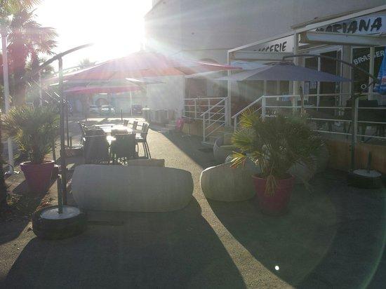 Mariana Beach : Terrasse