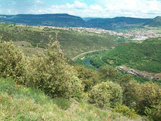 Viaduc de Millau : Это долина речки Тарн