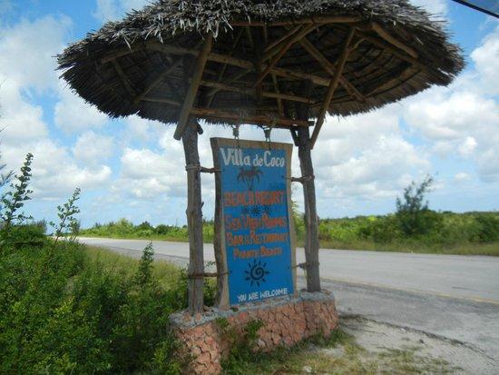 Villa de Coco : Sign