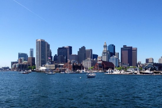 Marriott Vacation Club Pulse at Custom House, Boston: Boston Skyline From Water Taxi